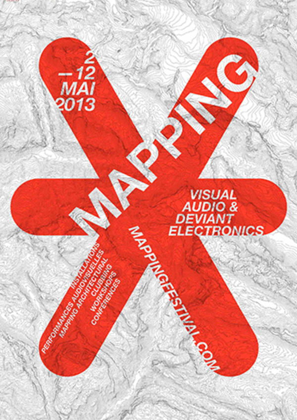 Affiche mapping 2013